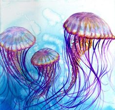 Watercolor Jellyfish Painting