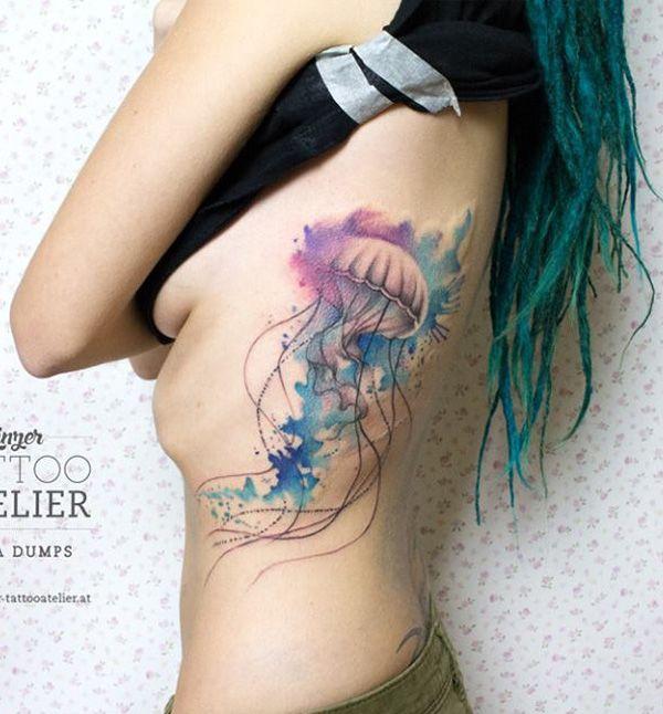 600x646 50 Jellyfish Tattoo Ideas Tattoos Jellyfish Tattoo