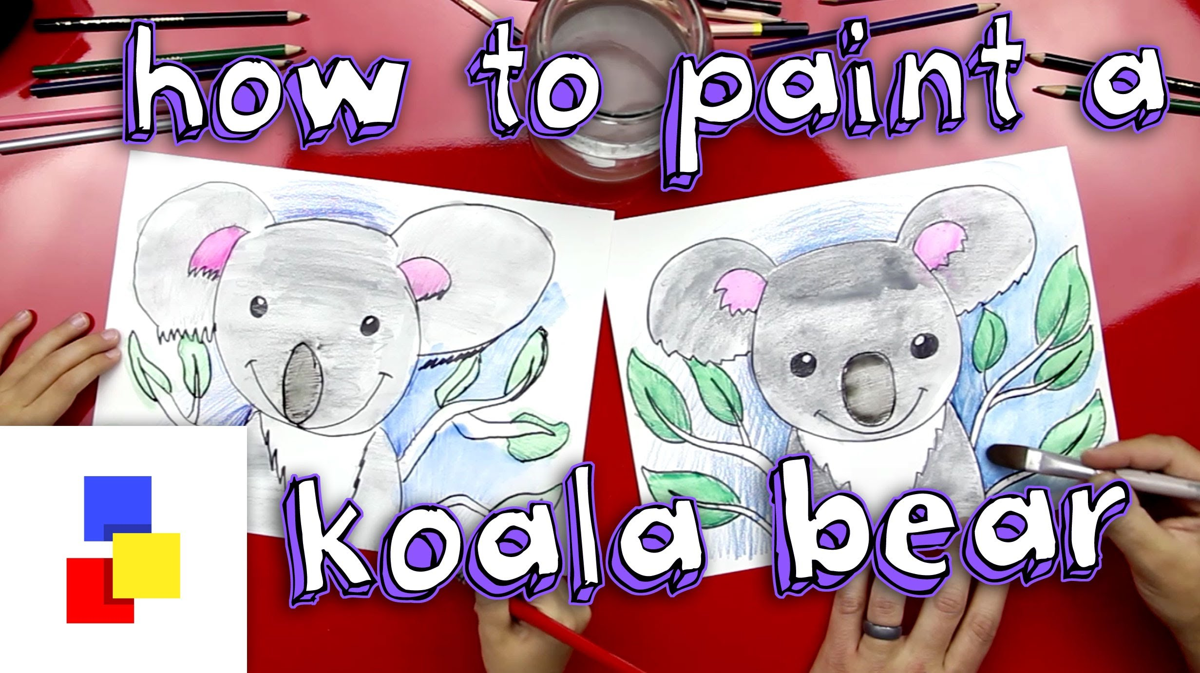 2463x1381 How To Paint A Koala Bear With Watercolor Pencils