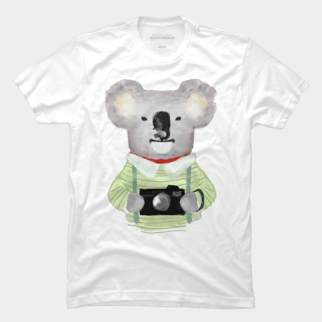 650x650 Koala Bear In Clothes Watercolor Animal Art T Shirt By