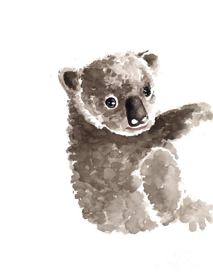 687x900 Koala Watercolor Art Print Painting Painting By Joanna Szmerdt