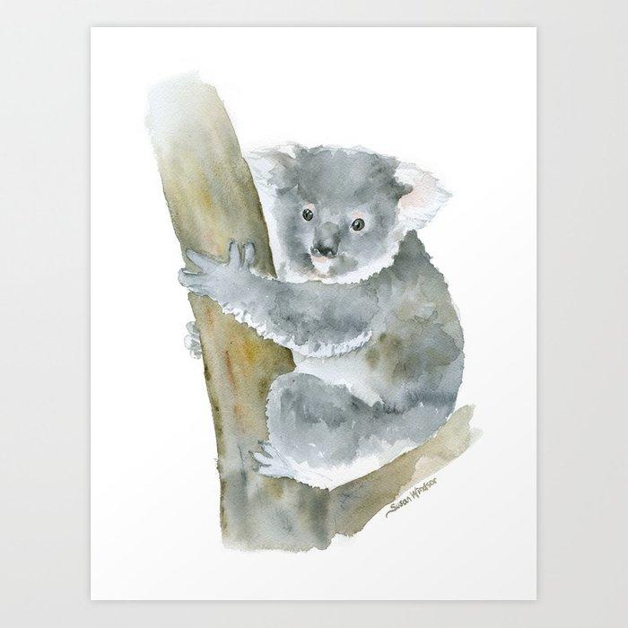 700x700 Koala Watercolor Painting Art Print By Susanwindsor Society6