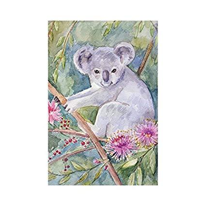 425x425 Usophia Watercolor Koala Polyester Garden Flag House