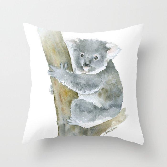 700x700 Koala Watercolor Painting Throw Pillow By Susanwindsor Society6