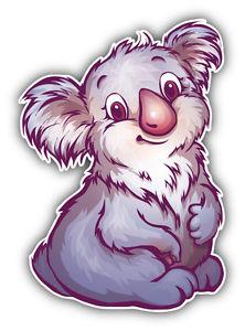 222x300 Watercolor Koala Car Bumper Sticker Decal 4' X 5' Ebay