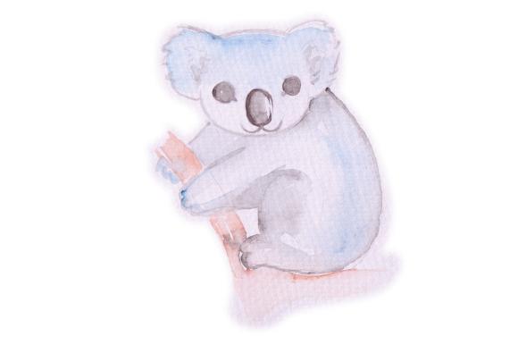 580x386 Watercolor Koala Svg Cut File By Creative Fabrica Crafts