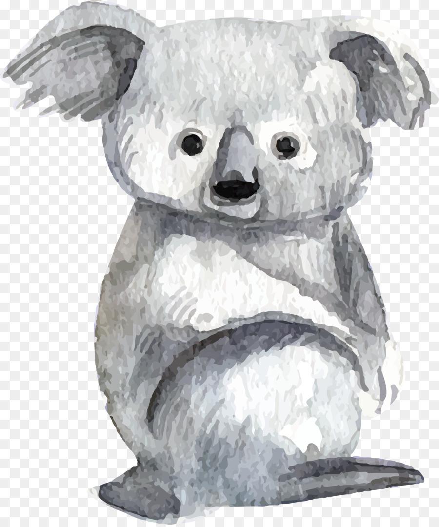 900x1080 Baby Koalas Lemur Bear Watercolor Painting