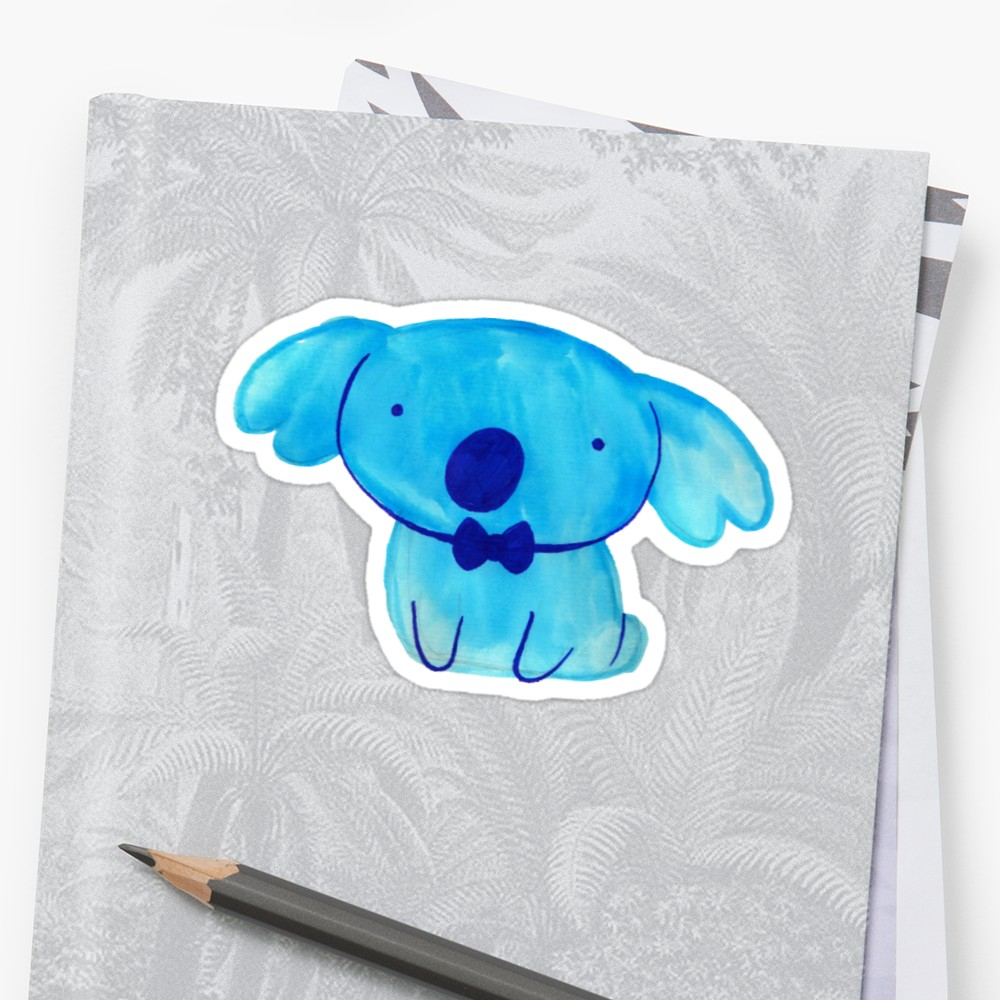 1000x1000 Blue Watercolor Koala Stickers By Saradaboru Redbubble