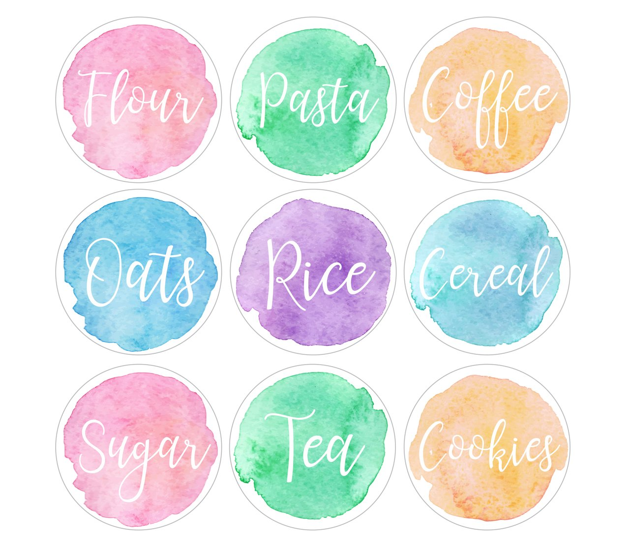 Watercolor Labels at GetDrawings com | Free for personal use