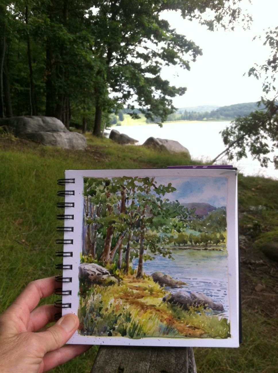 968x1296 Everyday Artist Step By Step Watercolor Lake Scene See Step By