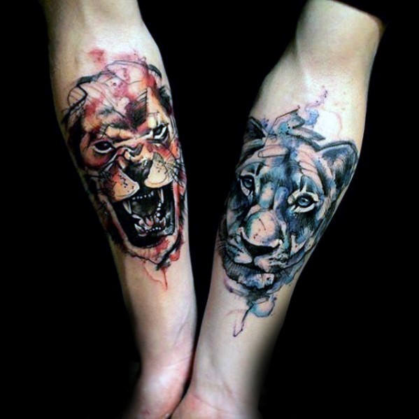 Watercolor Lion Tattoo At Getdrawings Com Free For Personal Use