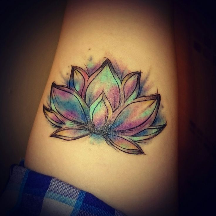 Lotus Flower On Water Tattoo Flowers Healthy