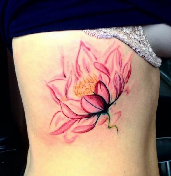 Watercolor Lotus Tattoo At Getdrawingscom Free For Personal Use