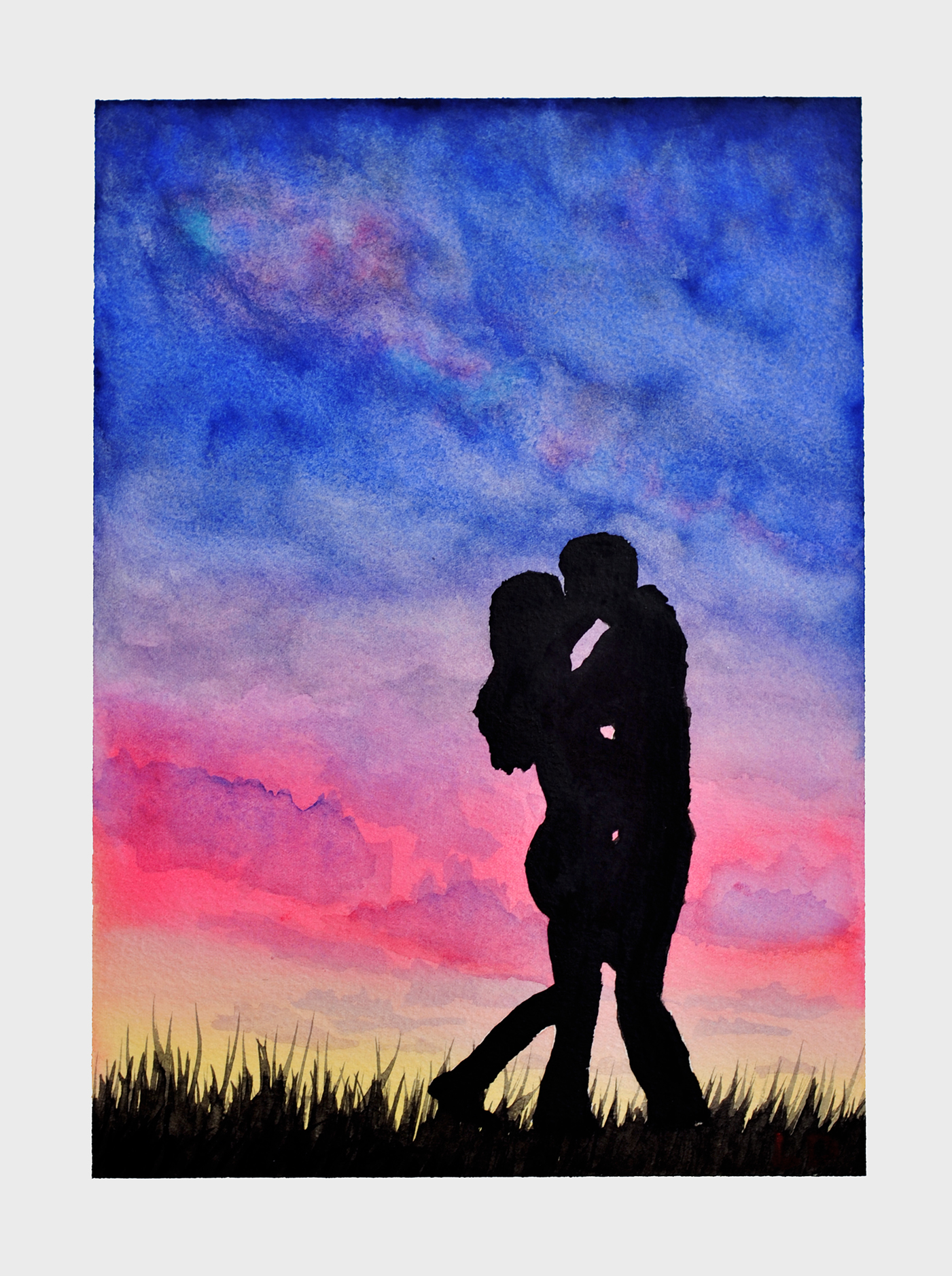 1401x1877 Love, Until The End Of The Watercolor Painting Leone D