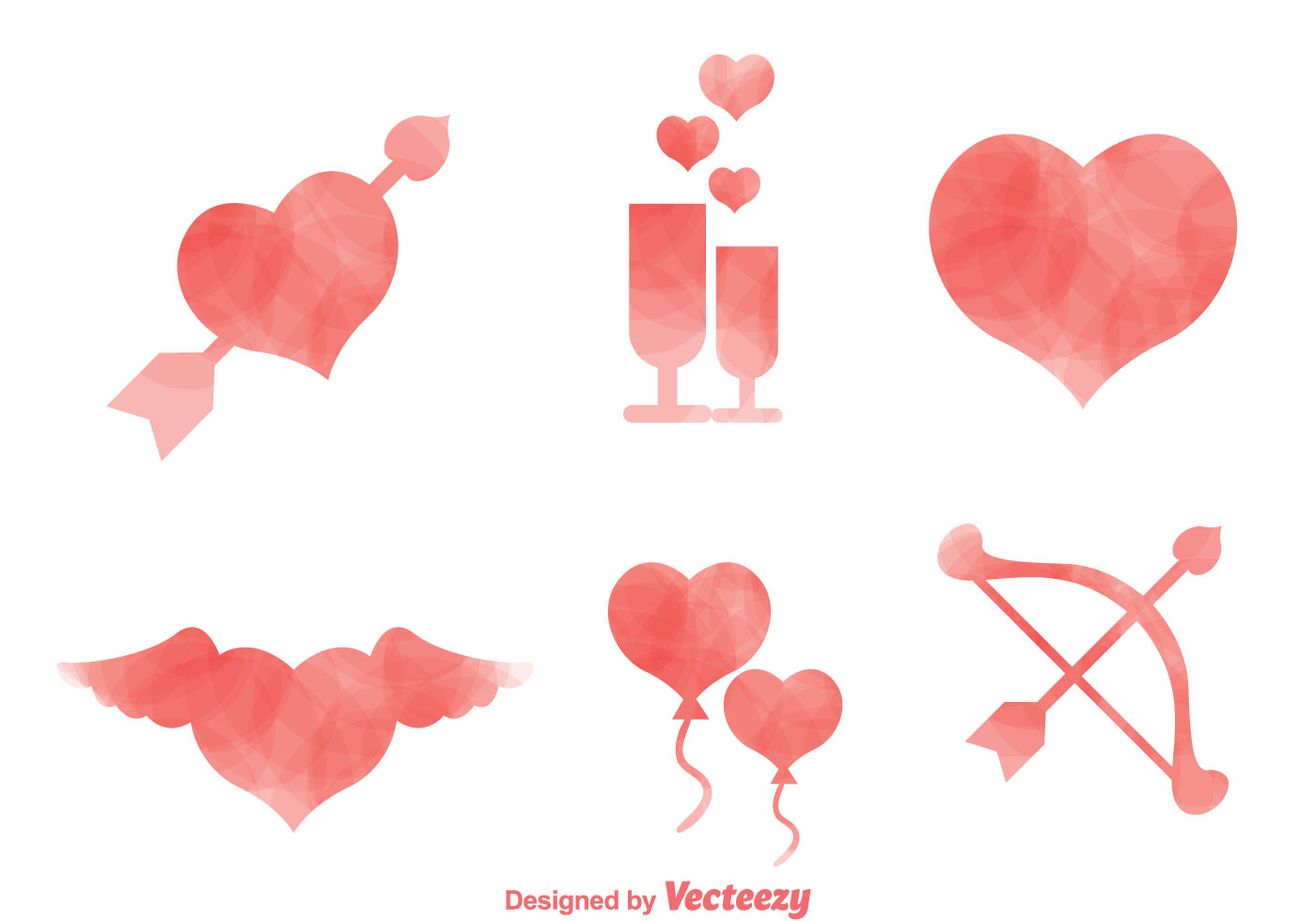 1400x980 Love Watercolor Icons