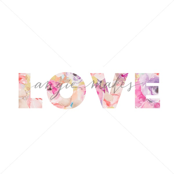 600x600 Adorable Watercolor Love Printable Art. Download This Love