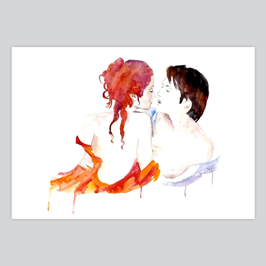 933x933 Watercolor Print Love