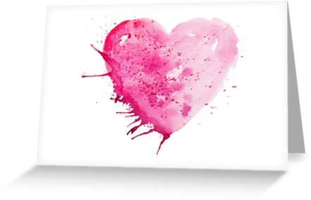 441x283 Watercolour Watercolor Love Heart Valentines Anniversary Wedding