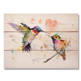 310x310 Love Birds Canvas Wall Art Wayfair