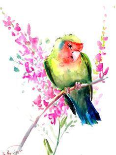236x314 Watercolor Love Birds
