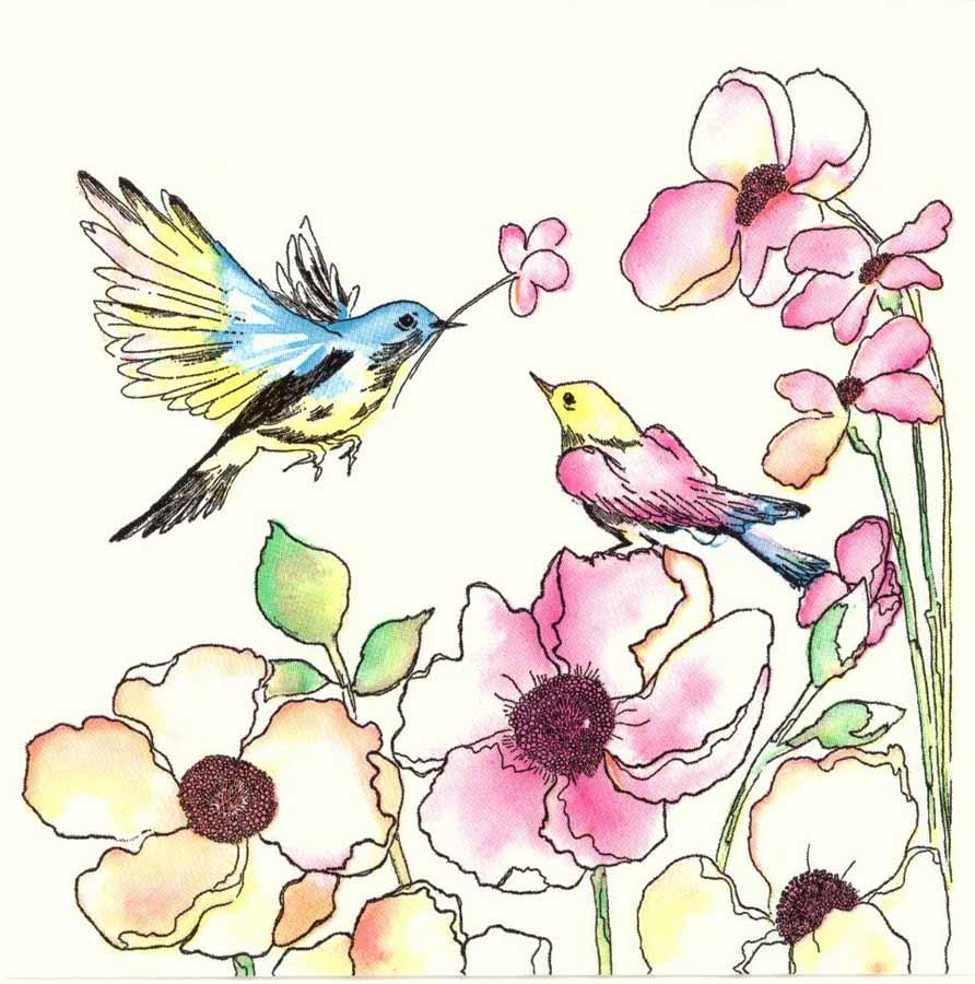 892x900 Decoupage Paper Napkins Of Love Birds In Flower Garden