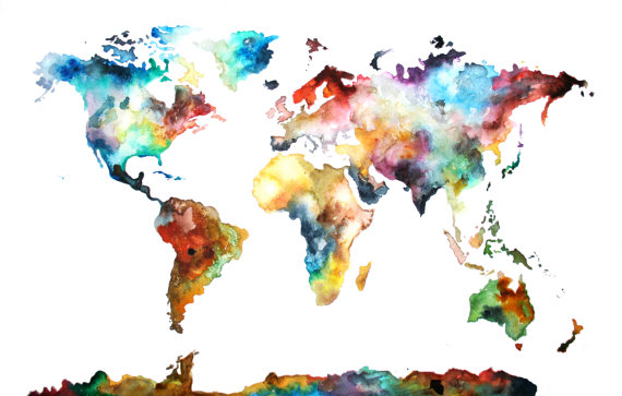 Watercolor Map at GetDrawings.com | Free for personal use ...