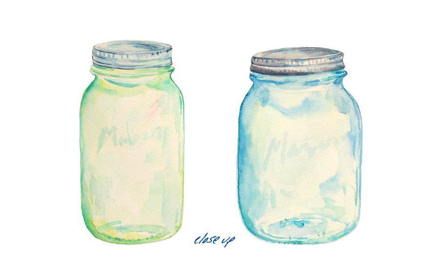 Watercolor Mason Jar at GetDrawings com | Free for personal