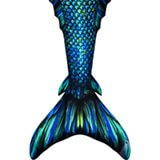 160x160 Swimmable Mermaid Tails For Kids And Adults Watercolor Waves