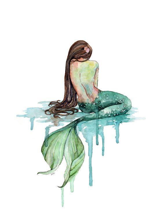 570x739 Xlarge Mermaid Painting