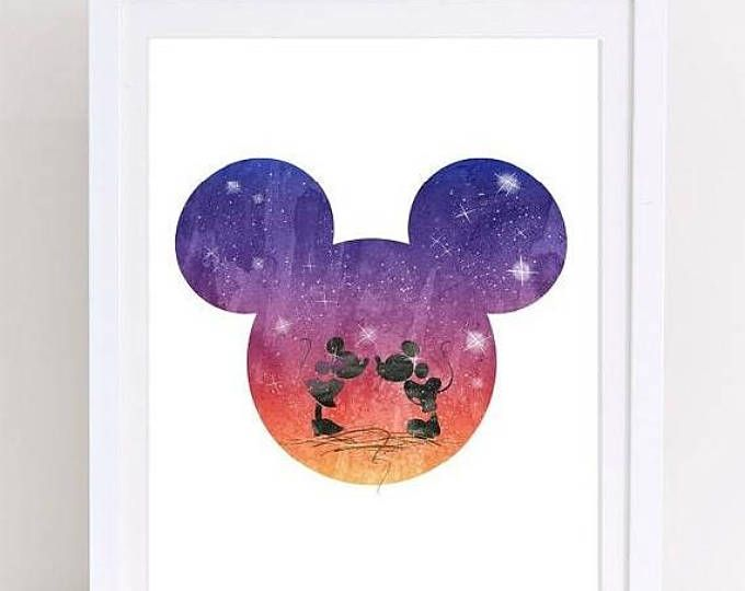 Watercolor Mickey Mouse