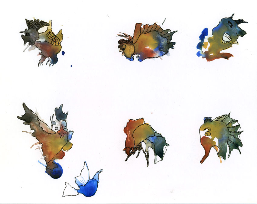 Watercolor Monster