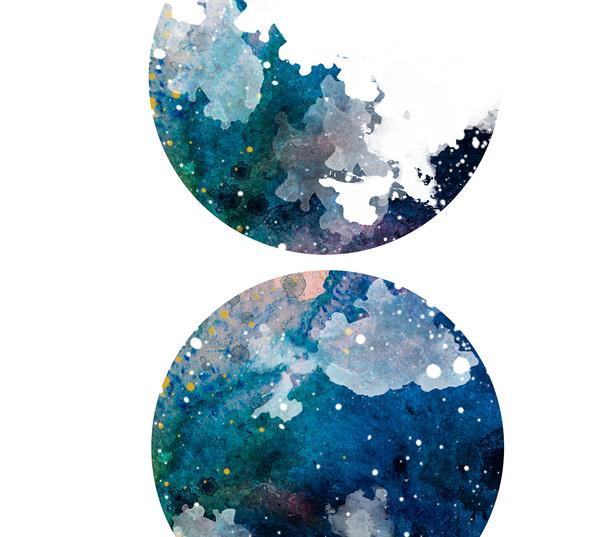 600x537 Moon Phases Print, Moon Print, Lunar Phase Print, Moon Phases