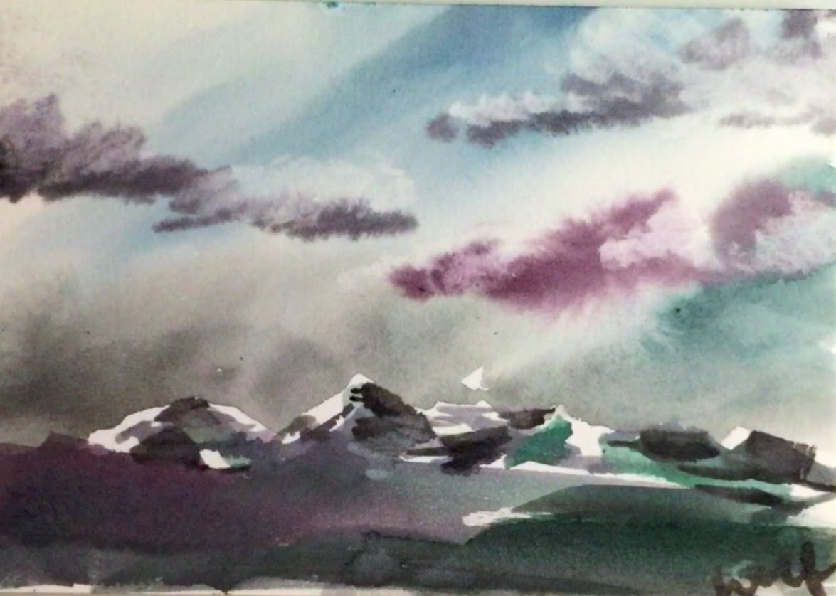 1175x838 Watercolor Mountain Landscape Demonstration