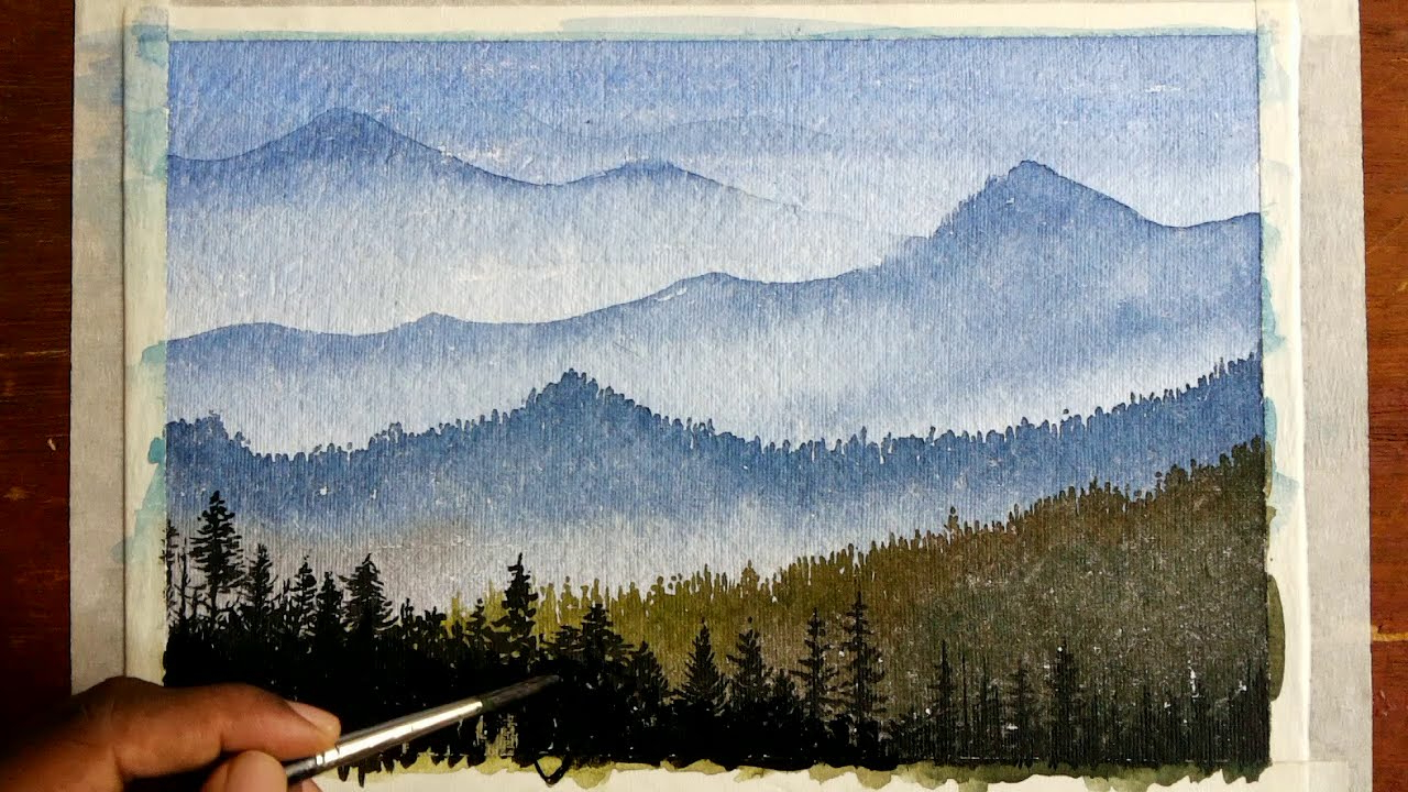 1280x720 Watercolor Paintings Of Mountains How To Draw A Mountain Landscape