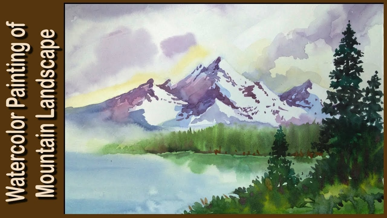 1280x720 Watercolor Painting Watercolor Tutorial Of Simple Mountain And