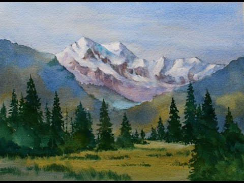 480x360 Beginners Mountain Watercolor