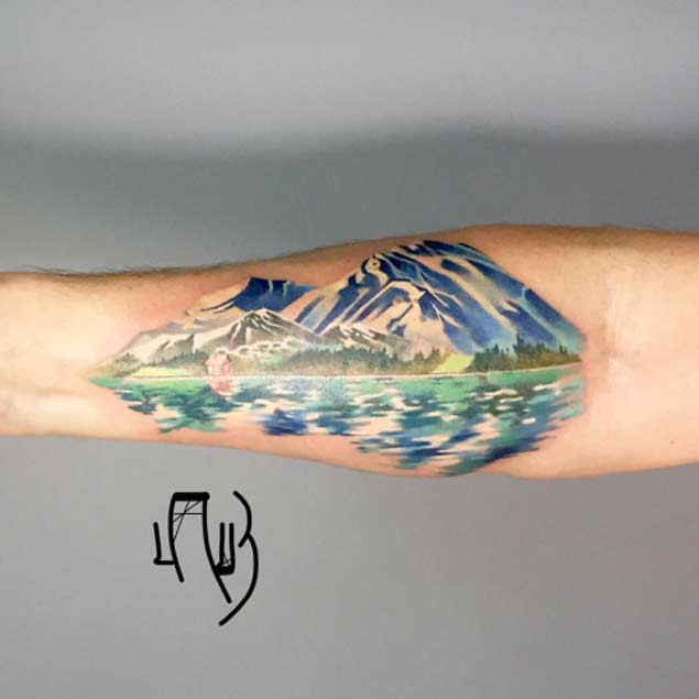 Watercolor Mountain Tattoo At Getdrawings Com Free For Personal