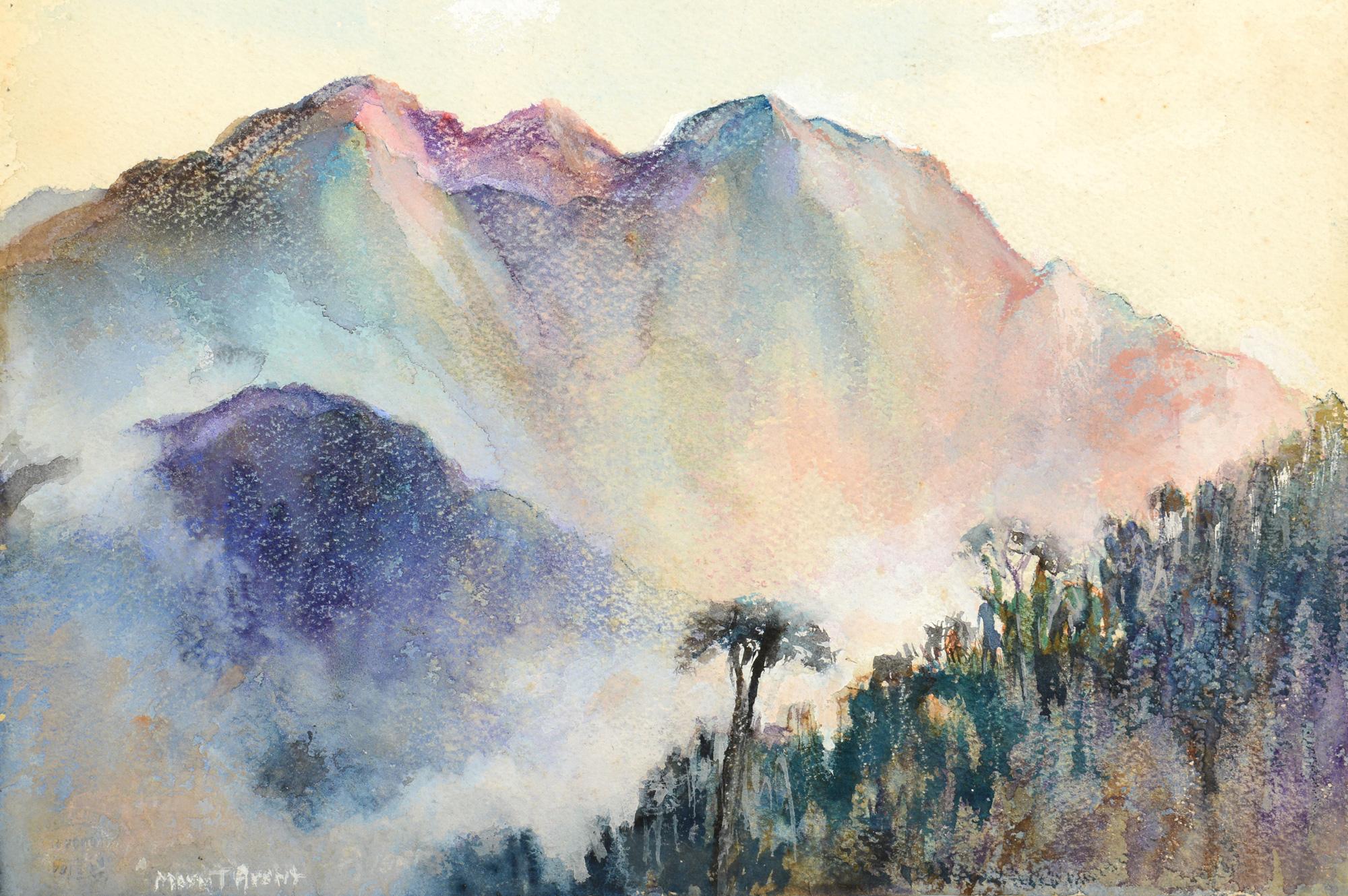 2000x1330 Lot 724 Mayna Treanor Avent Mountainous Watercolor