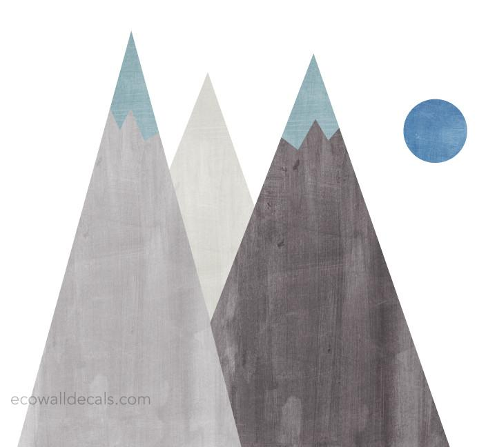 720x648 Mountain Fabric Wall Decals
