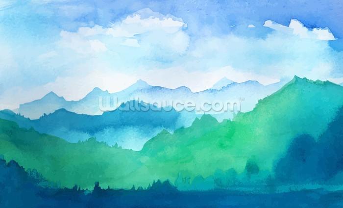 700x424 Watercolor Mountains Wallpaper Wallsauce Uk