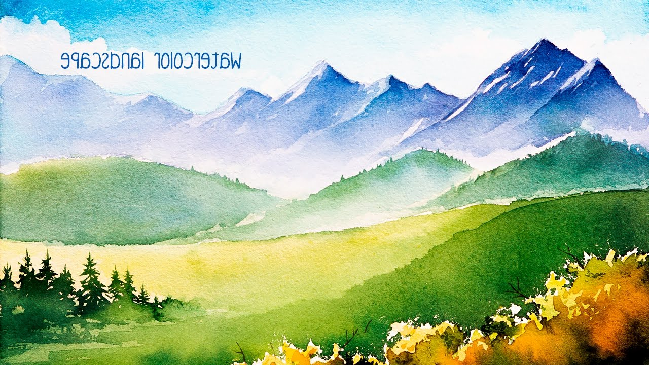 1280x720 Watercolor Paintings Of Mountains Watercolor Mountains.