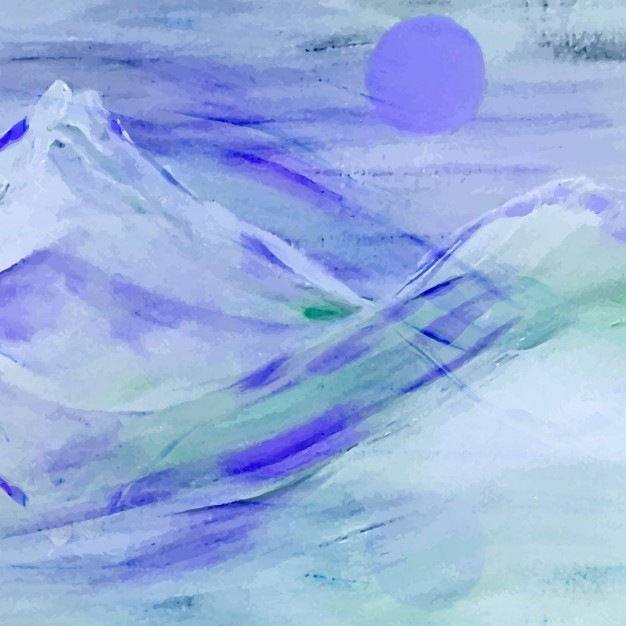 626x626 Watercolor Mountains Background Vector Free Download