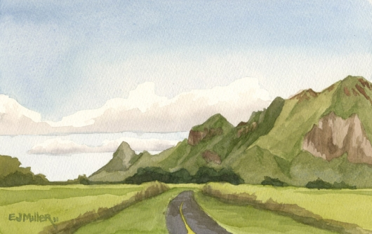 530x334 Haupu Mountains From Kipu Road