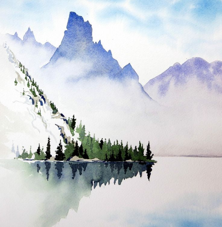 736x752 Image Result For Simplistic Watercolor Mountains My Art In 2018