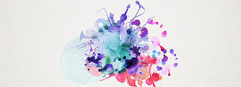 800x291 Splash Ink Ink Watercolor Background Music, Splash, Pomo, Ink