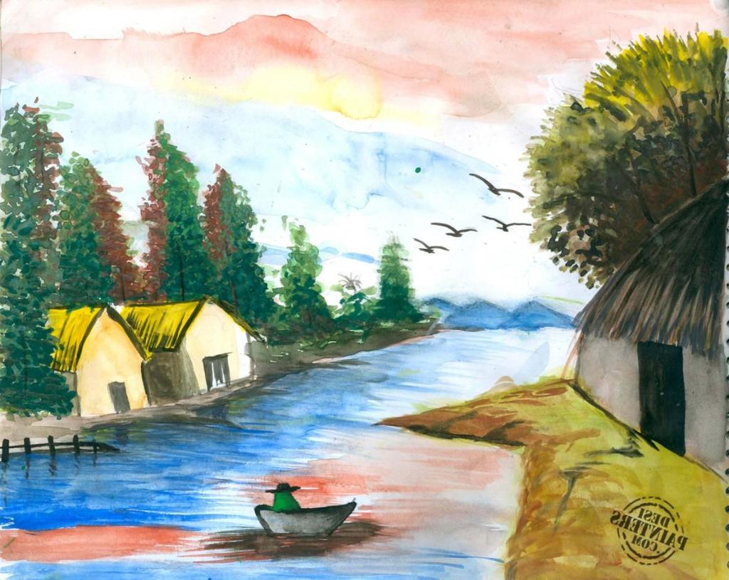 1024x815 Watercolor Paintings Nature Paintings Nature Simple Paintings Of
