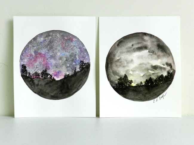 650x488 How To Paint A Night Sky In Watercolor Two Tutorials