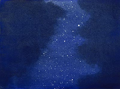 400x296 Night Sky Watercolor 7 Too Much White Paper