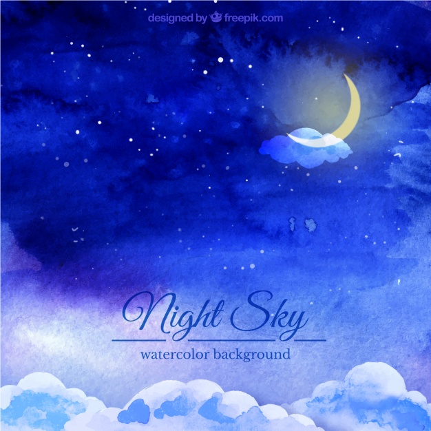 626x626 Night Sky Watercolor Background Vector Free Download