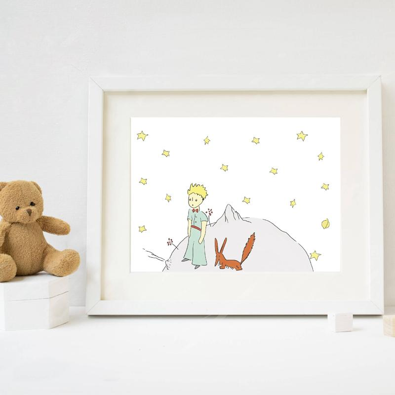 800x800 2018 The Little Prince Print Watercolor Nursery Art , The Little